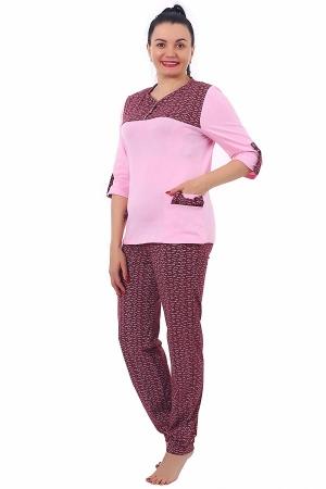 Пижама Соня бордо К-127
