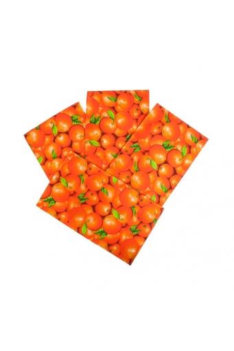Полотенце из рогожки Апельсины 35х60, 4 шт.