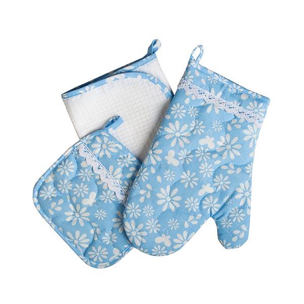 Набор рукавица, прихватка, полотенце Любимой, бязь
