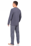 Пижама мужская Деним серый МП-1