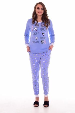 Пижама женская 1-174 (голубой)