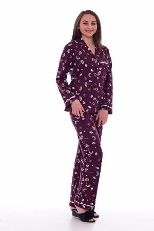 Пижама женская 1-179в (бордо)