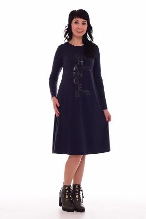 Платье женское ф-1-48а (тёмно-синий)