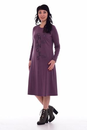 Платье женское ф-1-48в (сирень)