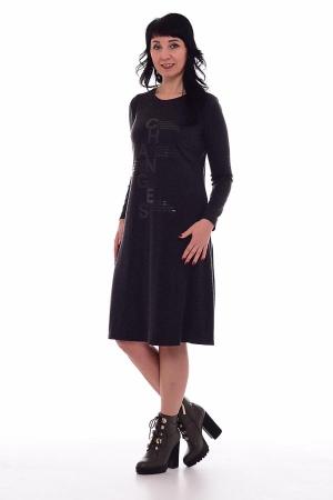 Платье женское ф-1-48д (чёрный)