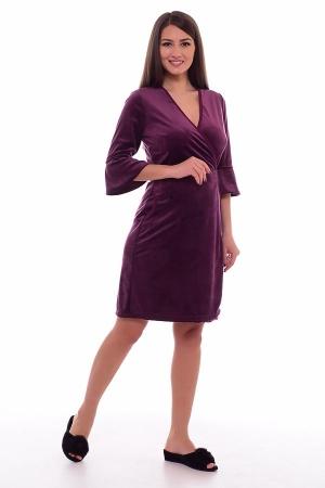 Халат женский 3-197ж (фиолетовый)