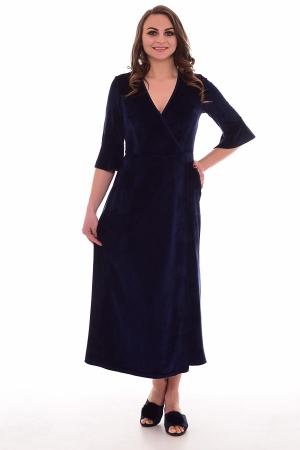 Халат женский 3-198в (тёмно-синий)