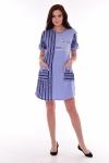 Платье женское 4-71 (голубой)