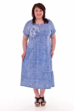 Платье женское 4-69 (голубой)