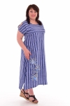 Платье женское 4-70 (голубой)