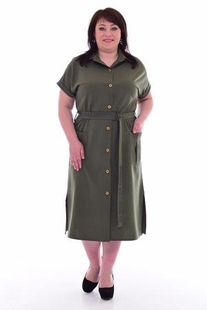 Платье женское ф-1-56в (хаки)