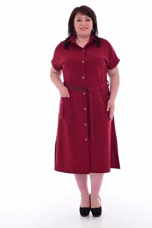 Платье женское ф-1-56б (бордо)