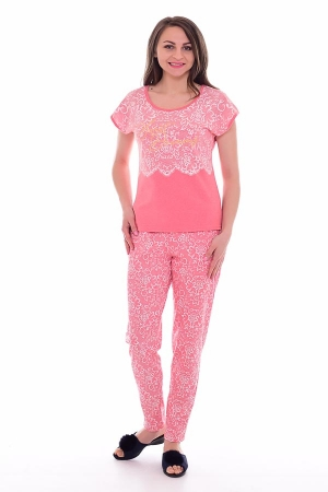 Пижама женская 1-181а (коралл)