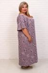 Сорочка Фламинго 3 какао НАТ-50-3