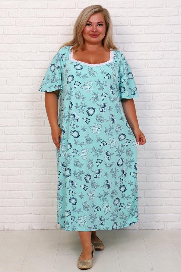 Сорочка Фламинго 2 голубой НАТ-50-2