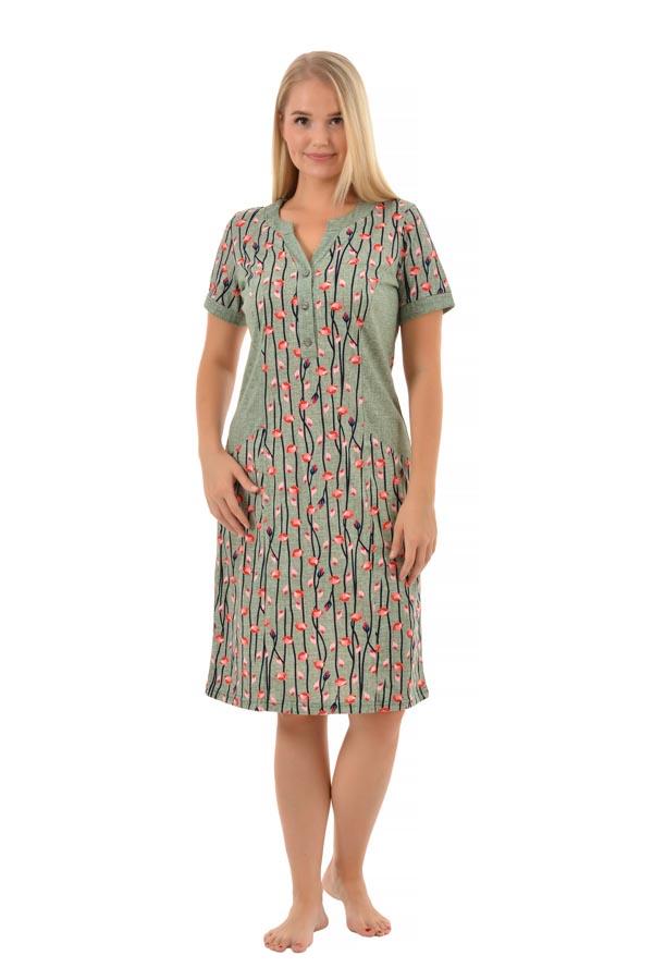 Платье Бенталь роза олива К-197