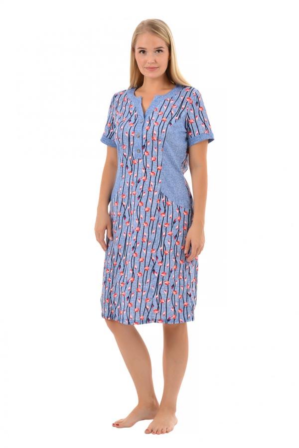 Платье Бенталь роза голубой К-197