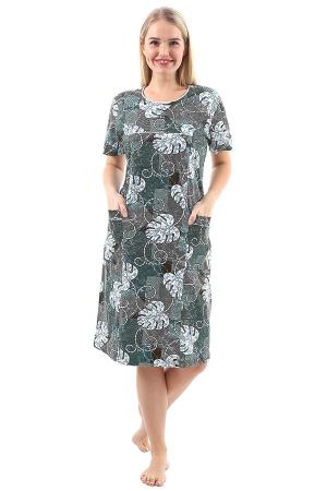 Платье Павлина Лист зелёный К-92