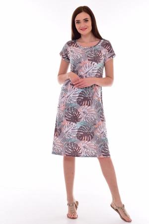Платье женское 4-080а (шоколад)