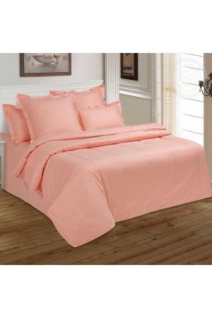 Персик постельное белье сатин
