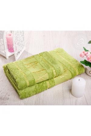 """Набор полотенец """"Бамбук"""" зеленый, 500г/м"""