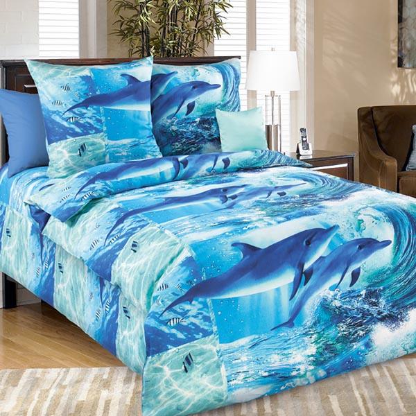 Дельфинарий постельное белье бязь