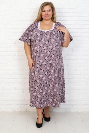 Сорочка Фламинго 8 коричневый НАТ-50-5