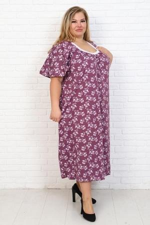 Сорочка Фламинго бордо НАТ-50-6