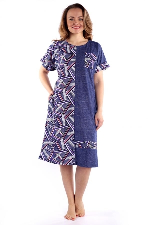 Платье Авангард геометрия розовая К-121