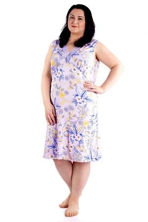 Ночная сорочка Рафаэлла голубой цветок ВИ-50