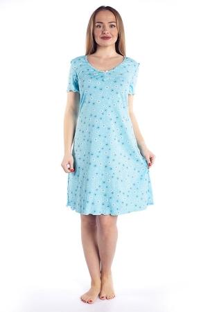 Ночная сорочка Полянка голубой КС-86