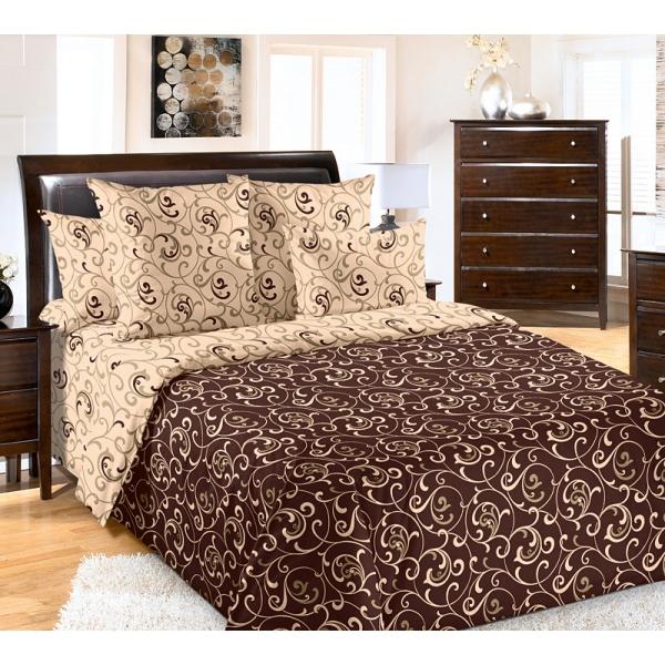 Вензель коричневый постельное белье бязь