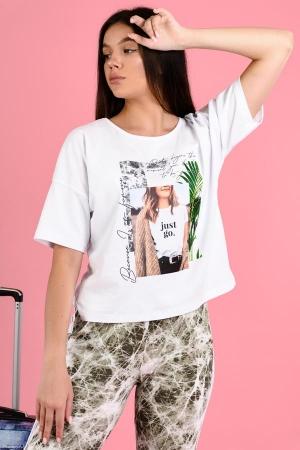 Женская футболка 8123