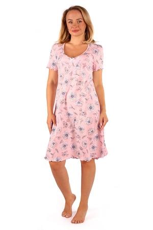 Ночная сорочка Полянка розовая КС-86