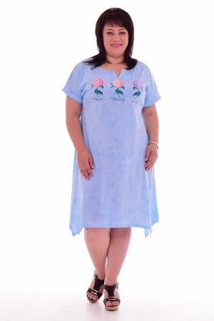 Платье женское 4-54г (светло-голубой)