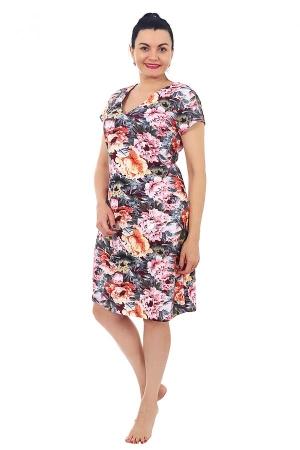 Платье  Аурелия цветы К-114