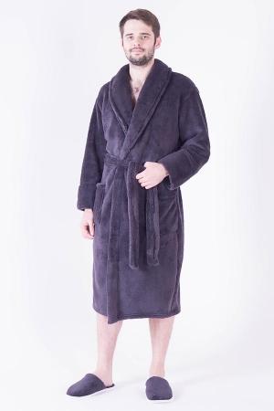 Халат мужской 9-16г (тёмно-серый)