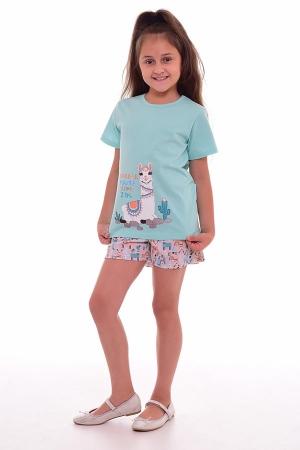 Пижама детская 7-207в (ментол+персик)