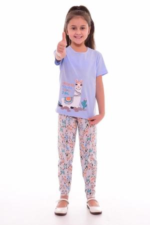 Пижама детская 7-189д (голубой+персик)