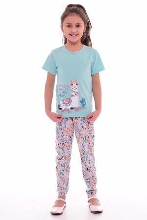 Пижама детская 7-189в (ментол+персик)