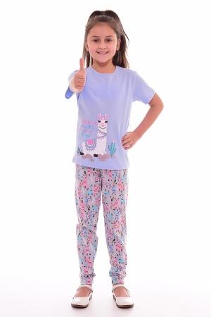 Пижама детская 7-189б (голубой+розовый)