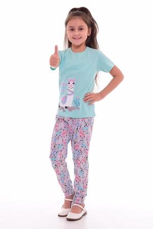 Пижама детская 7-189 (ментол+розовый)