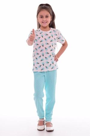 Пижама детская 7-191 (ментол)
