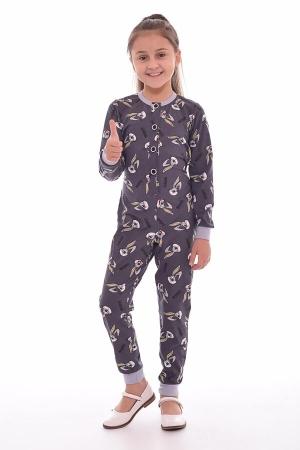 Пижама детская 7-178а (серый)
