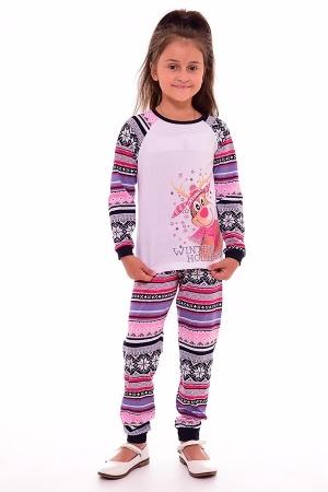 Пижама детская 7-118в (синий+розовый)