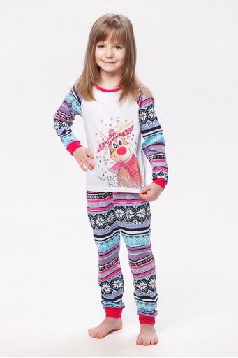 Пижама детская 7-118 (малина+голубой)