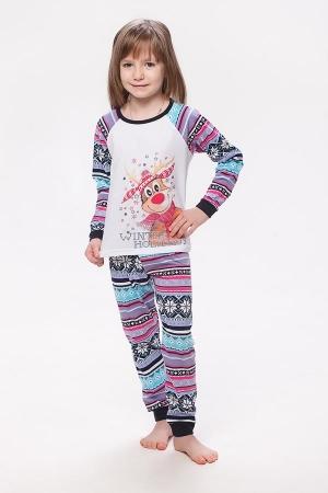 Пижама детская 7-118а (синий+голубой)