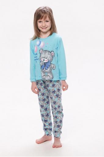 Пижама детская 7-123а (голубой)
