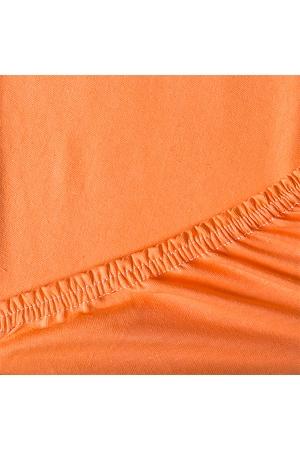 Простыня на резинке Оранжевая, трикотаж
