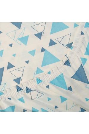 Простыня на резинке Треугольники, трикотаж
